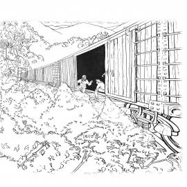 Train down the mountain