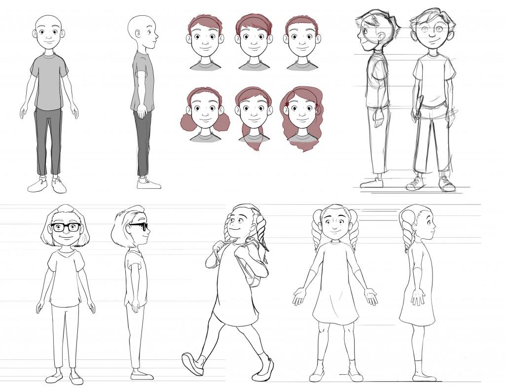 Elementary Studen Character Design